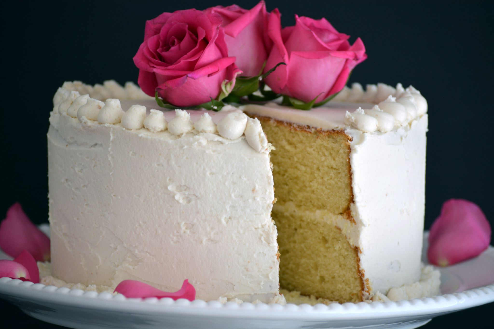 Torta o Pastel de Vainilla