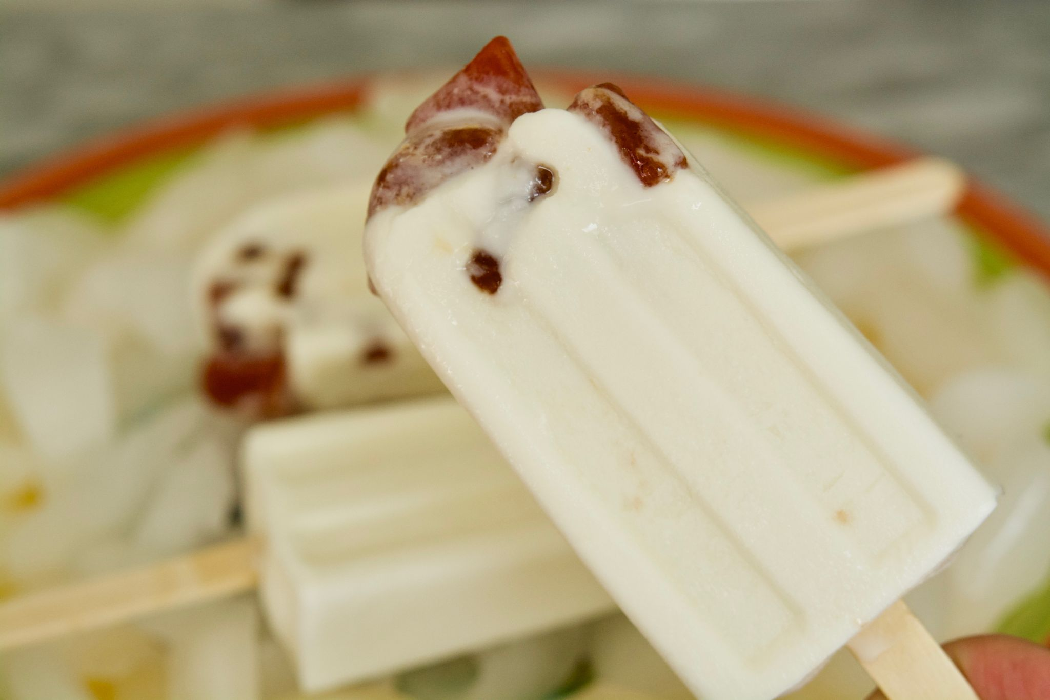 Coconut Popsicles With Guava Paste