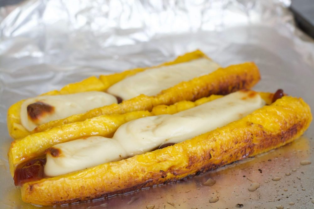 Sweet Plantains With Cheese & Guava Paste