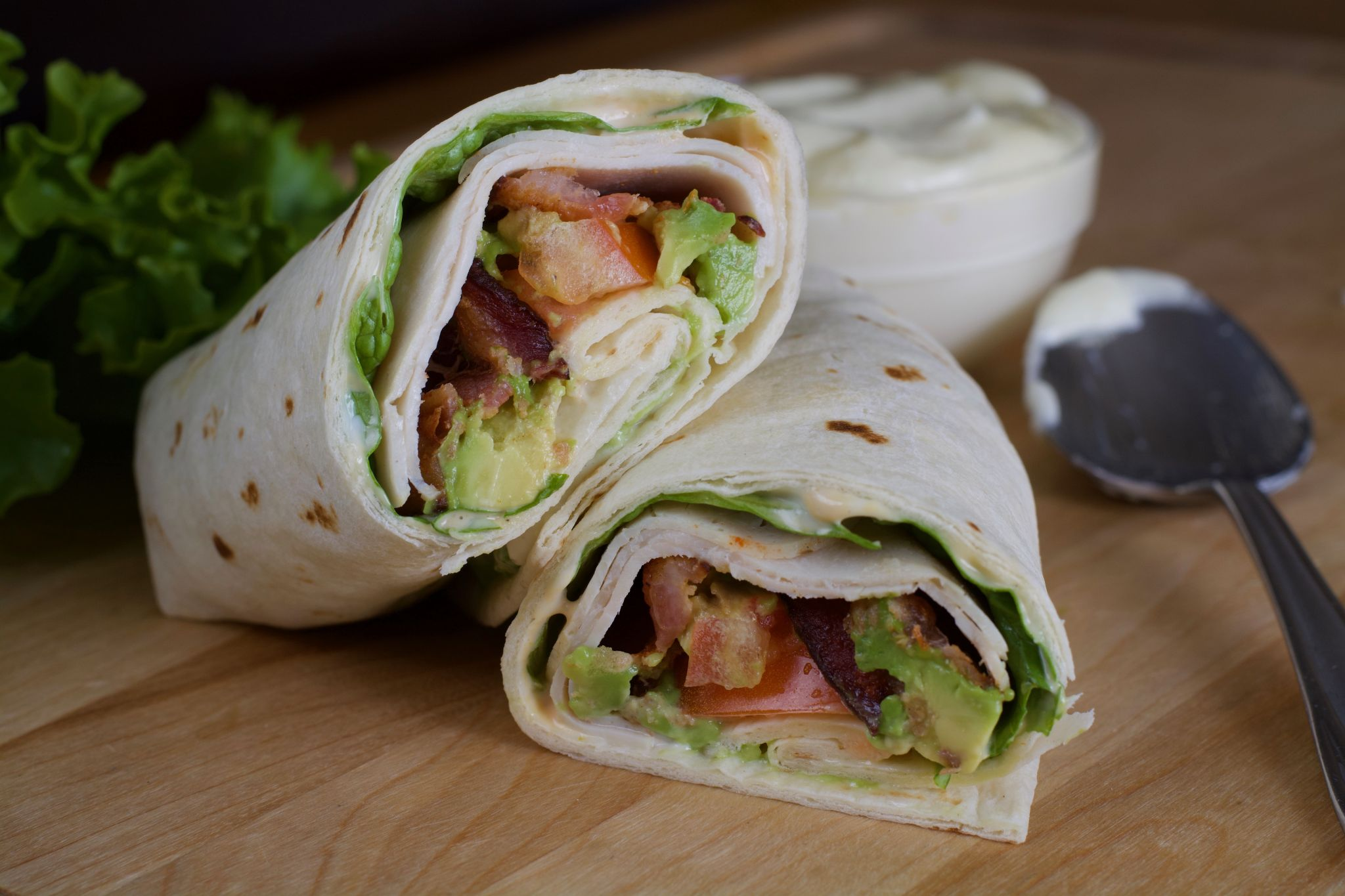 Turkey, Bacon & Avocado Wraps