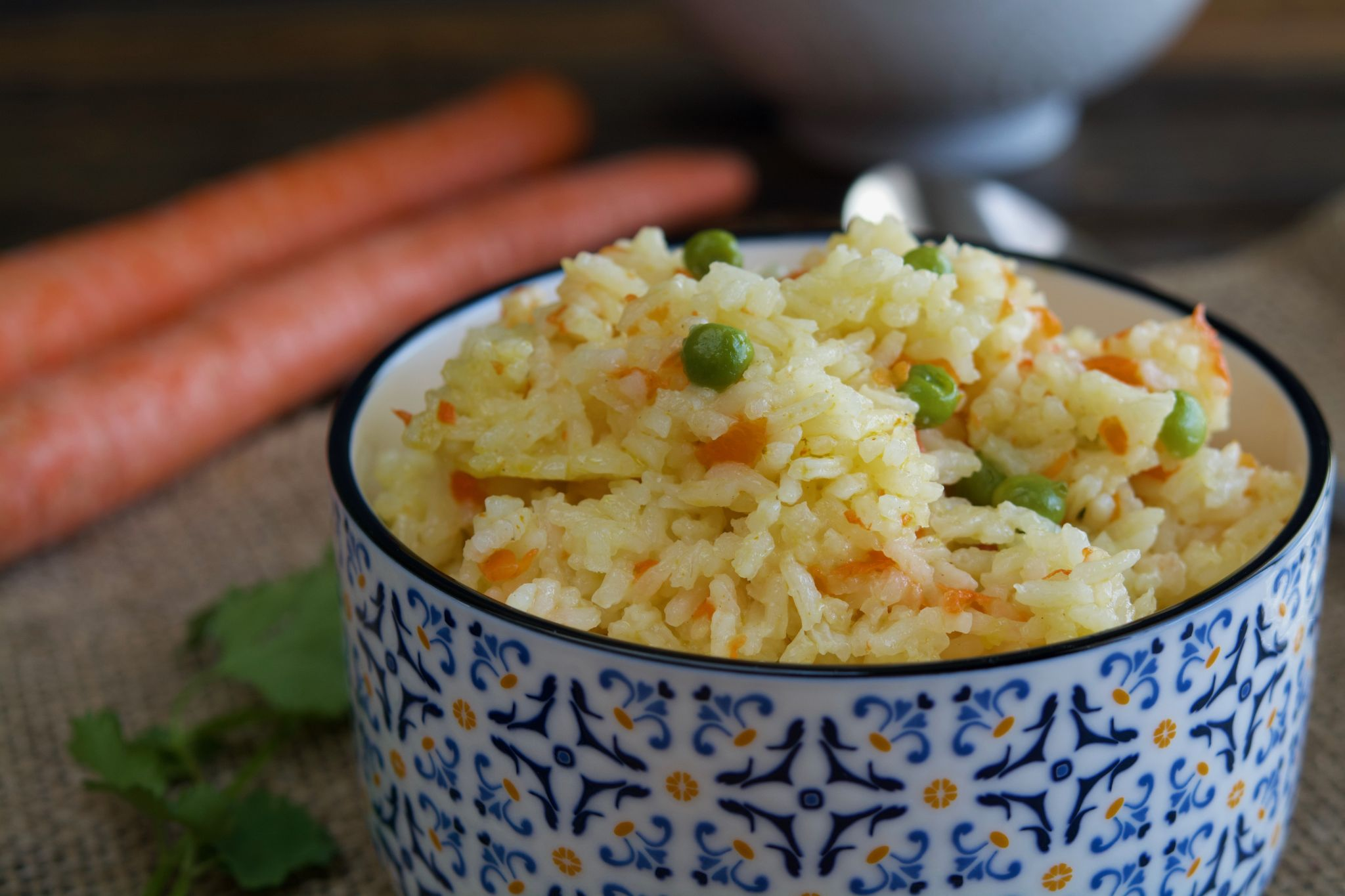 Rice With Peas & Carrots